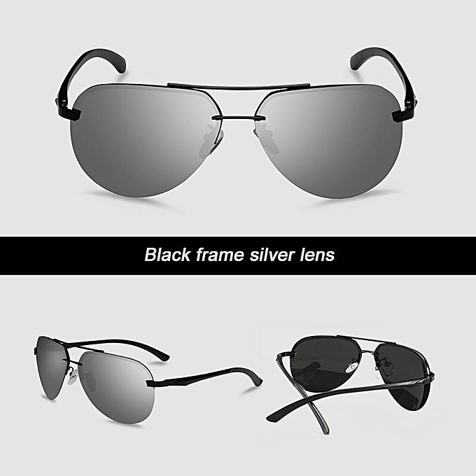 0d7d6fbc5a7 VEITHDIA 143 Men s Brand Designer Sunglasses Polarized Aluminum UV400 black  frame silver lens for Men ...