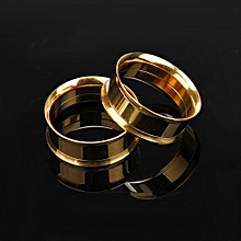 1 Pair Stainless Steel Screw Ear Gauges Flesh Tunnels Plugs Expander Gold