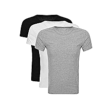 Three pack tshirts white/ black /grey