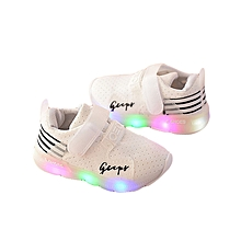 Autumn Toddler Sport Running Baby Shoes Boys Girls LED Luminous Shoes Sneakers? - White