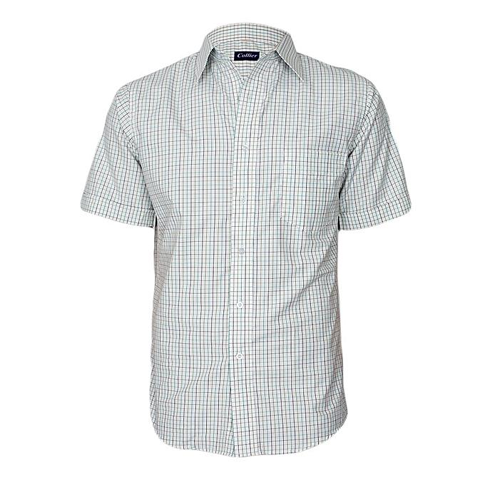 b651e33600 Collier White Multicoloured Checked Short Sleeved Shirt @ Best Price ...