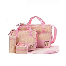 Shoulder  Diaper Bag, Multi Pockets Waterproof Nappy Bag For Travel, Large Capacity and Stylish -Pink