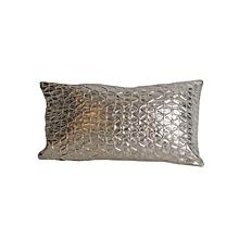 Snake Skin Pattern Pillow - Small - Metallic Shiny