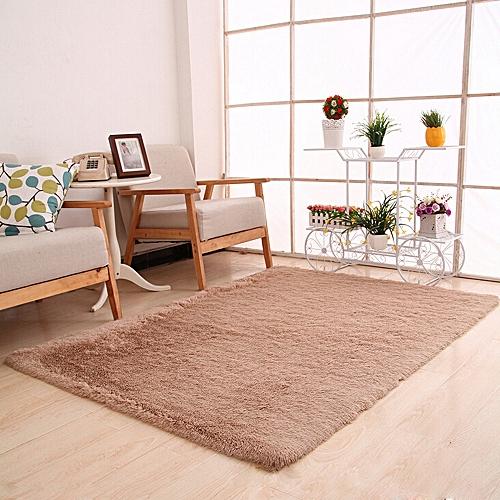 Duanxiyv  Fluffy Rugs Anti Skid Shaggy Area Rug Dining Room Bedroom Carpet  Floor Mat
