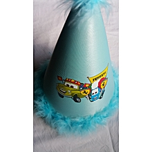 Blue Feathered Party Hat - Ferrari