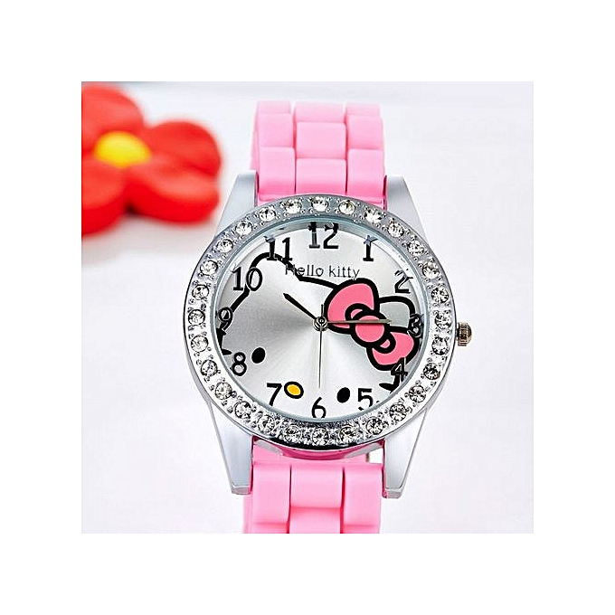 kids lenowatch cartoon kitty girls for watches product hello childrens children s