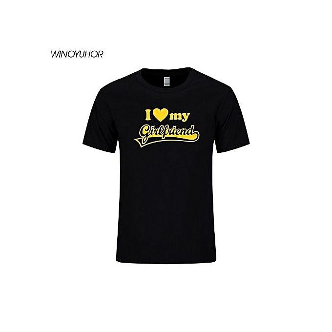 997e45a0f Men's Fashion T-shirt Fashion I LOVE MY GIRLFRIEND Funny Printed Mens T- shirts