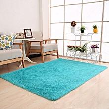 Fluffy Rugs Anti-Skid Shaggy Area Rug Dining Room Home Carpet Floor Mat Sky Blue