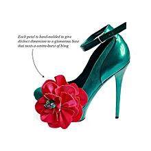 ZIZI Asymmetrical Flower Clip - Multi Purpose Jewellery - Fuscia