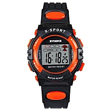 Famous Sport LED Digital Watches Men Fashion Top Brand Wrist Watch Male Electronic Clock Digital-watch(Orange)