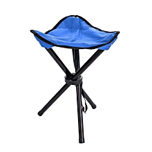 Portable Folding Tripod Chair For Outdoor Camping Hiking Fishing Picnic BBQ Travel(Blue L)