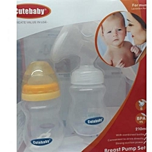 Cute Baby Manual Breast Pump with a Free Bottle