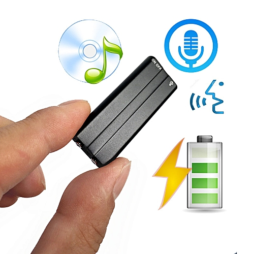 Mini Clip USB Voice Activated Digital Audio Voice Recorder Mp3 50 hours  Recording