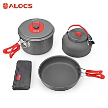 Alumina Ultralight 2 - 3 People Cookware Set