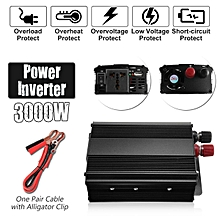 Solar Power Inverter 3000W Peak 12V DC To 220V AC Modified Sine Wave Converter