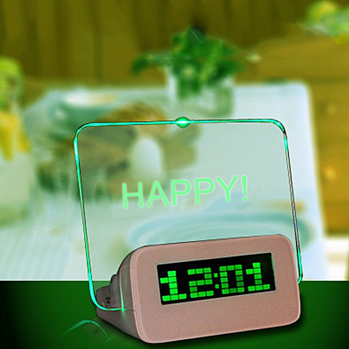 Message Board Digital Alarm Clock LCD Electronic Clock Large Screen  Romantic Fluorescent Light Mute Alarm Clock