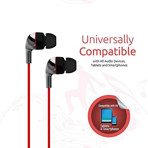 CHROME:Black Metallic Multifunction Stereo Headphones With inbuilt Microphone