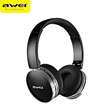 A500BL Wireless Bluetooth Headphone Folded CVC6.0 Noise Cancelling Stereo Headset with Mic - Black