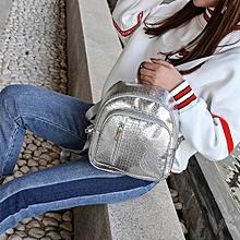 Women's Solid Stone Pattern Shoulder Bags Backpack Mini Travel Rucksack SL