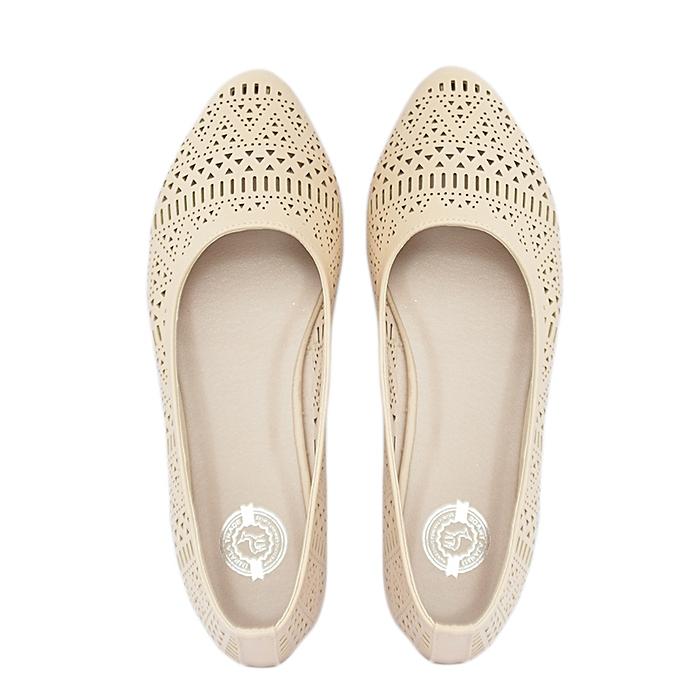 1e9ed5801f5ec Impala Beige Flat Ladies Shoes   Best Price