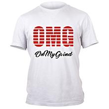 White O.M.G  T- shirt Design