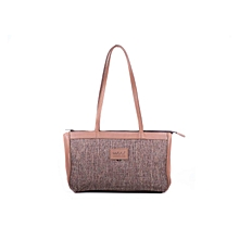 Ladies Bett Fabric Handbag - Made In Kenya,100% Genuine Leather