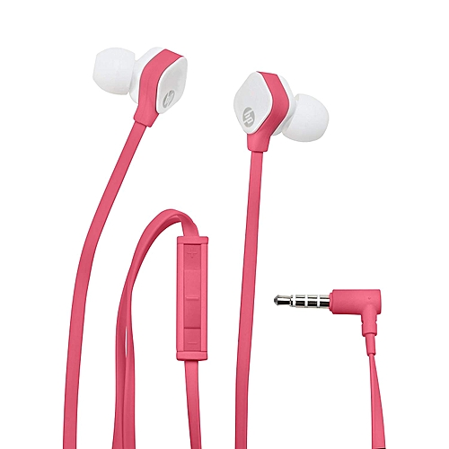 HP H2310 In-ear bold bass Headset with mic - Fuchsia Coral