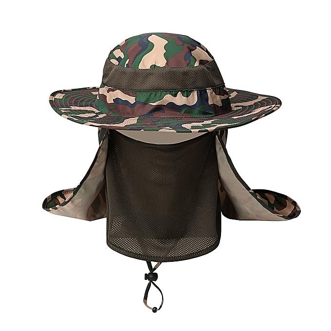 ... Men Outdoor Climbing Sunshade Hat Casual 360 Degree Sun Protection Uv  Fishing Cap with Face Cover ... 61e91d6e25d
