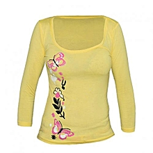 Yellow Women's Printed Top