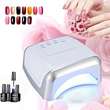 60W UV Gel Polish Nail Dryer Curing LED Lamp Manicure Drying Tool- US Plug