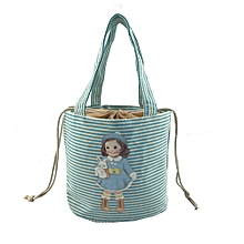 jiuhap store Lunch Box Cute doll Thermal Insulated Tote Cooler Bag Bento Pouch Container-Blue