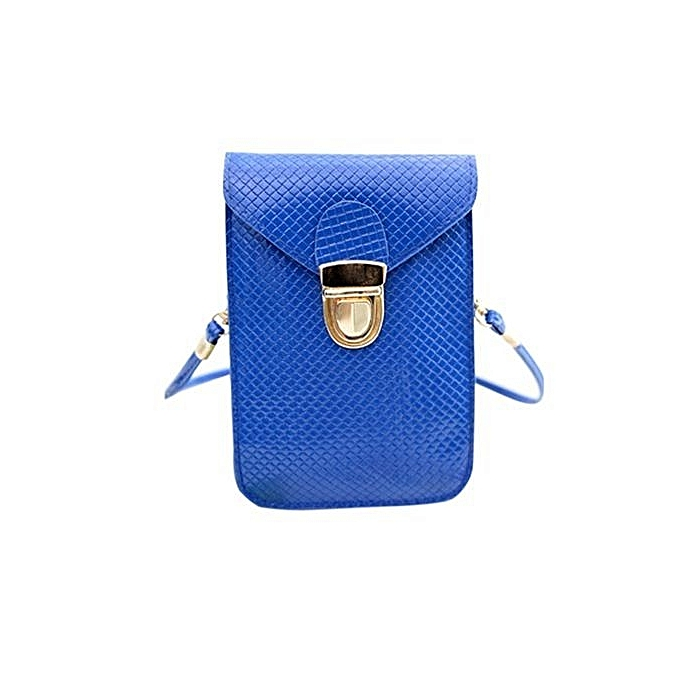bluerdream-Women Mini Shoulder Bag Satchel Cross Body Purse Messenger Tote Handbag BU-Blue