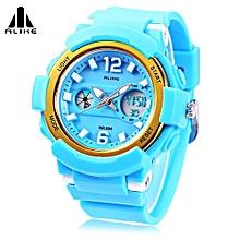 AK16122 Unisex Quartz Digital Watch LED Alarm Stopwatch Sport Watch-Blue-Blue