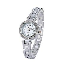 Luxury Women's  LVPAI Wrist Watches Classic Ladies Women Unisex Stainless Steel  Rhinestone Quartz Wrist Watch D-Sliver