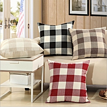 KCASA KC-W08 Simple Plaid and Striped Cushion Covers Throw Pillow Case for Sofa Bed Office Car Cafe
