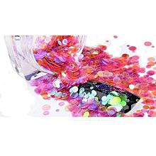 bluerdream-Nail Art Mini Round Thin Paillette Nail Glitter Sparkly Sequin Decorative-As Shown