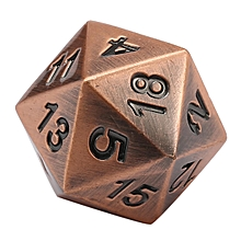7Pcs/set Antique Metal Polyhedral Dice w Bag DND RPG MTG Role Playing Board Game # Ancient copper