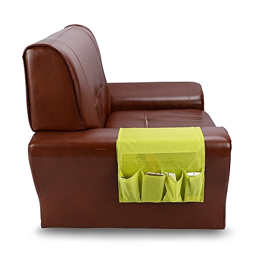 Multi Functional Couch Storage Pocket Sofa Armchair Remote Control Holder Organizer Green