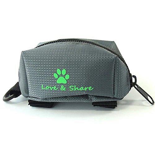 Poop Bag Dispenser, Dog Poop Bag Holder Leash Attachment - Walking, Running  Or Hiking Accessory (Grey)