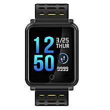 """N88 - 1.3"""" Smart Watch 170mAh Blood Pressure Monitor For Android IOS - Yellow"""