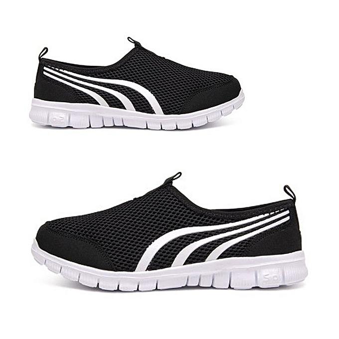 Women Light Sneakers Breathable Mesh Walking Running Shoes Summer Sport  Shoes black e1c3129095