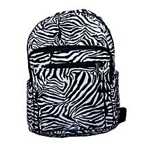 Durable cotton trendy school bag- with zebra print