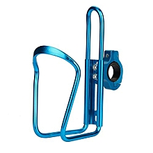 Cycling Bike Bicycle Aluminum Alloy Handlebar Water Bottle Holder Cages-Blue
