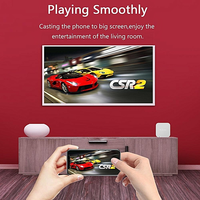 [Upgraded] Mini Car WiFi Display Box Share Phone To Car Display Airplay  DLNA Mirroring Miracast Support IOS Android GPS Navigation With RCA(CVBS)  And