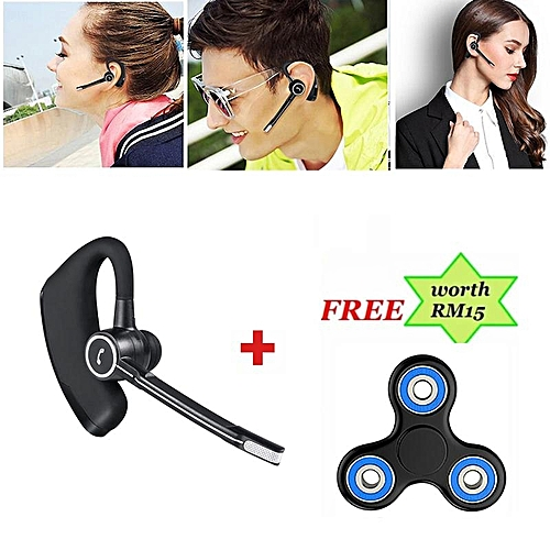 Wireless Bluetooth Headphone, V8S Voice Control Business Headset Handsfree Earphones For Drive Noise Cancelling For Smartphone And Free Gift