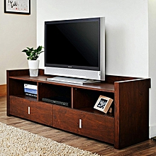 Simple MDF engineered wood  TV Stand Upto 55' TVs Walnut Finish