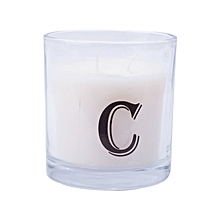 """Letter """"C"""" Alphabet Scented candle - White"""