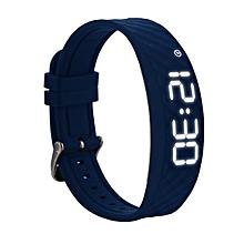 Smart Bracelet Fitness Tracker with Sports Monitoring, Vibration Alarm Clock Reminder, 48 Days Standby - Blue