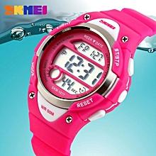 [100% Genuine] SKMEI 1077 Children Watches Cute Kids Watches Sports Cartoon Watch For Girls Boys Rubber Children's Digital LED Wristwatches Reloj