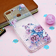 Colorful Pink Flower Pattern TPU Protective Case for Huawei Honor 9 Lite